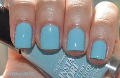"""""""Blue-Away"""" by Sally Hansen Insta-Dri.  Used this Polish today.....it's a gorgeous colour!"""