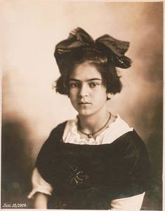 Young Frida Kahlo (age 6-7?). - Kahlo contracted polio at age six, which left her right leg thinner than the left; she disguised this later in life by wearing long skirts or trousers. To help her regain her strength, her father encouraged her to exercise and play sports. She took up bicycling, roller skating, swimming, boxing, and wrestling, despite the fact that many of these activities were then reserved for boys.[18][19] It has been conjectured that she was born with spina bifida, a…