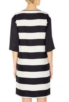 Rashmika Block Stripe Long Sleeve Dress by By Malene Birger