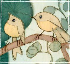Birds in the rain (detail) - Rebecca and David McBurney
