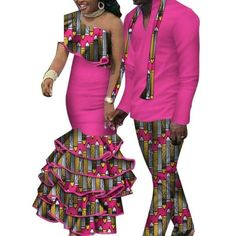 African Matching Clothing For Couple Man Woman Cotton Print Send Your – Afrinspiration Model Pictures, Model Photos, Traditional African Clothing, African Dashiki, Matching Couples, African Weddings, Clothes For Women, Cotton, Woman