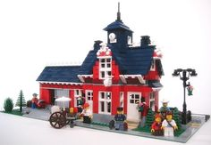 Legos train station