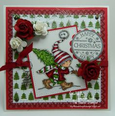 LOTV'S My Little Tree Happy Christmas OOAK by thehoosierstamper, $10.95 Cardmaking, Christmas Cards, Lily, Gift Wrapping, Create, Handmade Gifts, Happy, Stamps, Christmas E Cards