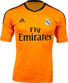 adidas Real Madrid 3rd/Alternate Jersey 2013/14 - Orange...Free Shipping...10% off, $80.99