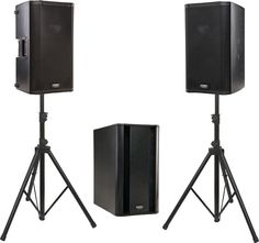 "QSC K10 / KSub Powered Speaker Package | A pair of sharp 10"" loudspeakers with a solid 1000W sub."