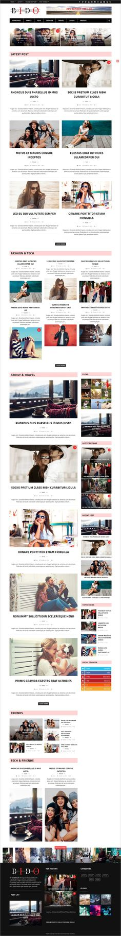 Bido is a premium modern and super flexible responsive 5in1 #WordPress theme for #magazine, #news or #blog websites download now➩ https://themeforest.net/item/bido-wordpress-blog-magazine-theme/18701517?ref=Datasata
