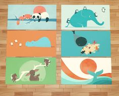Another set of those cute rugs.  Art by Jay Fleck  DOWNLOAD