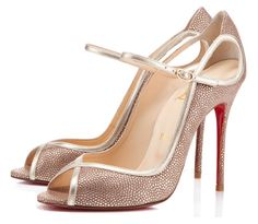 Christian Louboutin 1En8 Peep-toe Pumps in rose gold