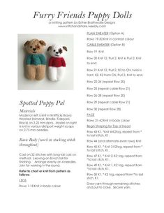 a knit and crochet community Ravelry: Purchase from Store: Esther Braithwaite D. - a knit and crochet community Ravelry: Purchase from Store: Esther Braithwaite Designs # - Knitted Doll Patterns, Animal Knitting Patterns, Knitted Dolls, Stuffed Animal Patterns, Crochet Patterns, Love Knitting, Knitting For Charity, Knitted Christmas Decorations, Knitted Teddy Bear