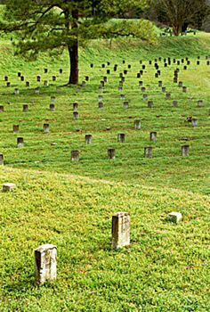 Just visited the National Cemetery at Vicksburg, Mississippi.  Graves of over 17,000 Union soldiers (Confederate soldiers couldn't be buried in National Cemeteries) and over 13,000 are unknown.  These are the graves with the small, square markers with just a number.