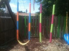 Cover rusted swingset chains with pool noodles. | 37 Ridiculously Awesome Things To Do In Your Backyard This Summer