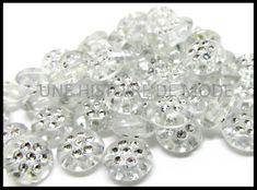 perles acrylique / strass / gris - UNE HISTOIRE DE MODE