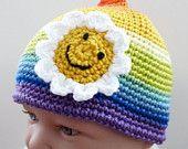 cute little rainbow hat with sun