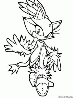 Free Printable Sonic The Hedgehog Blaze Coloring Pages For Boy