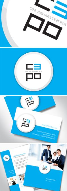 C3PO Solutions  Quand ont nous as approchés pour ce projet le site Web était déjà créé.  Ils avaient besoin d'un logo, d'une carte d'affaires et d'une brochure.  Voici donc le résultat, nous en sommes fiers ! Le Site, Site Web, Voici, Logos, Cards, Logo, Legos