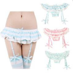 "Cute kawaii high quality removable straps stretch laces panties. Use this coupon code ""playbanovici"" to get all 10% off!"