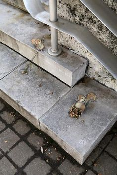 Sidewalk Art by Ann Arbor street artist David Zinn.