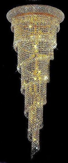 Long spiral swarovski crystal chandelier crystal chendelier crystal chandelier from iryna aloadofball Images
