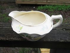 Cannonsburg Pottery Gravy Boat, Georgelyn, Floral Design, 6 by 4 1/2 Inches, Vintage Cannonsburg Pottery, Kitchen Server by Junkblossoms on Etsy