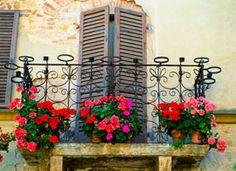 Balconi con gerani