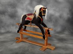 Rare vintage rocking horse by Collinsons
