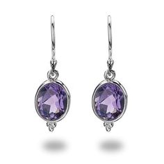 February Earrings - silver earrings - Silver by Mail Website