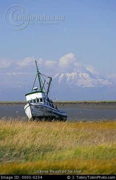 Alaska+Commercial+Fishing | An old commercial fishing boat that has been intentionally beached on ...