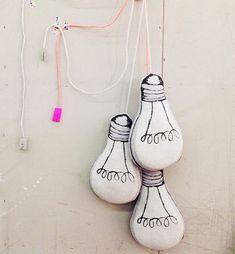 ampoules en tissu pour deco enfant