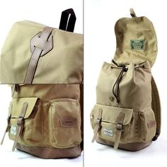 "A really nice and well vintage looks backpack. looks hip in an urban environment just as well as in the woods. designed with antique faux leather pacth details on the top are brought together for the Abigail backpack. Abigail features a padded 14 inch laptop sleeve, front zippered pocket and unique 2 sided pockets. color:  Specification: Dimensions: 42 x 29 x 16 cm Fabric: Poly-Fabric / Faux Leather   Details Nice faux leather shoulder straps Internal padded sleeve fits 14"" laptop One large…"