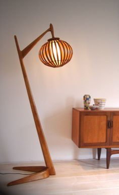 Mid Century Floor Lamp  (Danish?) Who can tell me more about the lamp? Designer? Producer?