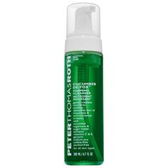 Peter Thomas Roth Cucumber De-tox Foaming CleanserDetoxes skin of environmental toxins, purifies, calms, and soothes irritated skin. Vaseline Beauty Tips, Cucumber Beauty, Peter Thomas Roth, Ingrown Hair, Face Cleanser, Face Wash, Skin Care Tips, Skin Tips, Bath And Body