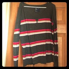 Long Sleeve Blouse Great for spring! Light fabric, bright colors American Eagle Outfitters Tops Blouses