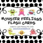 "FREE!  These 10 flashcards of monsters showing common feelings may be used in a variety of ways: flashcards, matching game, ""board"" game. Cute for younger kids."