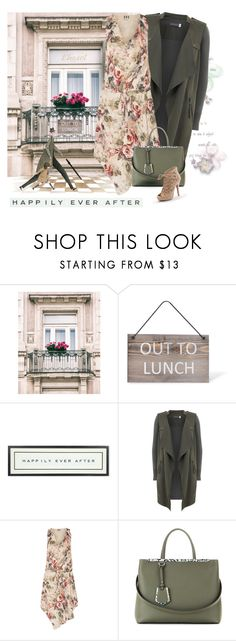 """""""Happily Ever After"""" by nightowl59 ❤ liked on Polyvore featuring Garden Trading, Vintage Playing Cards, Mint Velvet, Haute Hippie, Fendi and Apt. 9"""