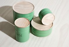 Seriously Good-Looking Food Storage: Enamel Canisters by Riess — Food Containers…