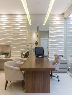 Why the Home Office Furniture You Use Matters Corporate Office Design, Office Cabin Design, Modern Office Design, Office Furniture Design, Dental Office Decor, Medical Office Design, Home Office Decor, Clinic Interior Design, Clinic Design