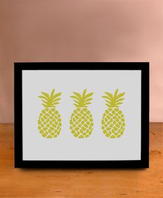 Tropical Pineapple Print - Wall Art