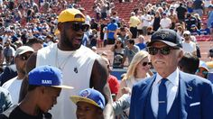 LOOK: LeBron James and his family enjoy L.A. Rams opener with owner Stan Kroenke