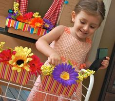 Setup a pretend flower shop with lots of different types of artificial flowers and let the floral fun begin!