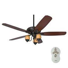 Hunter Torrence 64 in. Indoor Provence Crackle Bronze Ceiling Fan with Light Kit-55045 - The Home Depot