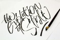 Calligraphi.ca — The Evolution of Style — folded pen — Sergey Shapiro