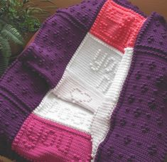 SISTER pattern for crocheted blanket. by ColorandShapeDesign