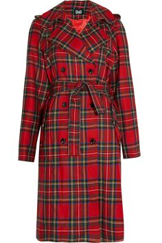 Plaid wool trench coat by D                                                                                                                                                                                 Más