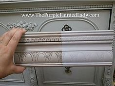 Image result for lilac chalk paint with black wax