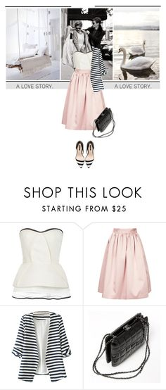 """A True Love Story Never Ends"" by marina-volaric ❤ liked on Polyvore featuring Monique Lhuillier, Topshop, Chanel and Zara"