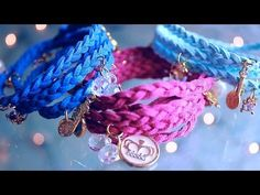 ▶ Wrap Braided Charm Bracelets DIY - YouTube