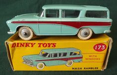 VINTAGE 1950s/60s BOXED DIECAST DINKY TOYS NASH RAMBLER STATION WAGON 173   eBay