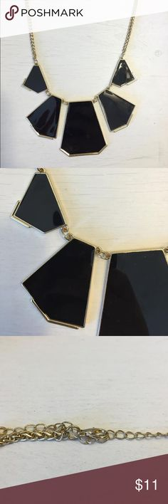Selling this Black, geo statement necklace. in my Poshmark closet! My username is: jessinanicole. #shopmycloset #poshmark #fashion #shopping #style #forsale #WINDSOR #Jewelry