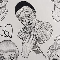 Mimes and clowns. All available #tttism #tattooflash #tattooworkers #lovettt #linework #onlyblackart #onlythedarkest #darkartists #btattooing #blxckink #blacktattoomag #blacktattooing #blacktattooart #blackworktattoo #blackworkerssubmission #flashaddicted #neotraditional