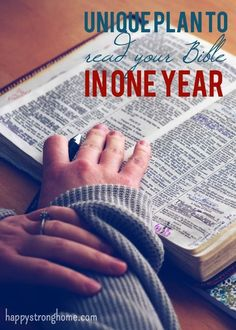 A unique read your Bible in One Year plan - give yourself fresh eyes as you read the Word of God with this inspiration for daily reading and devotions.